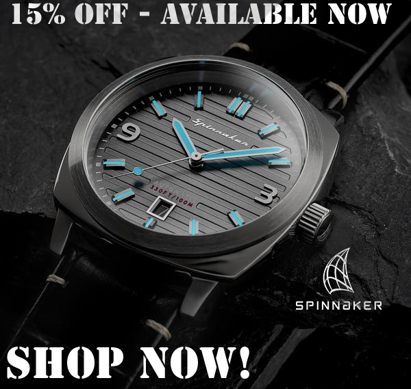 15% OFF AT SPINNAKER WATCHES