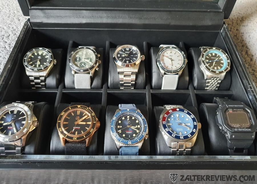Volta Matte Charcoal 10 Watch Box