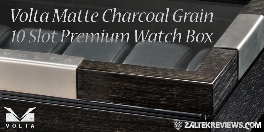 Volta Matte Charcoal 10 Watch Box Review
