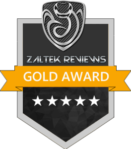 Zaltek Reviews Gold Award