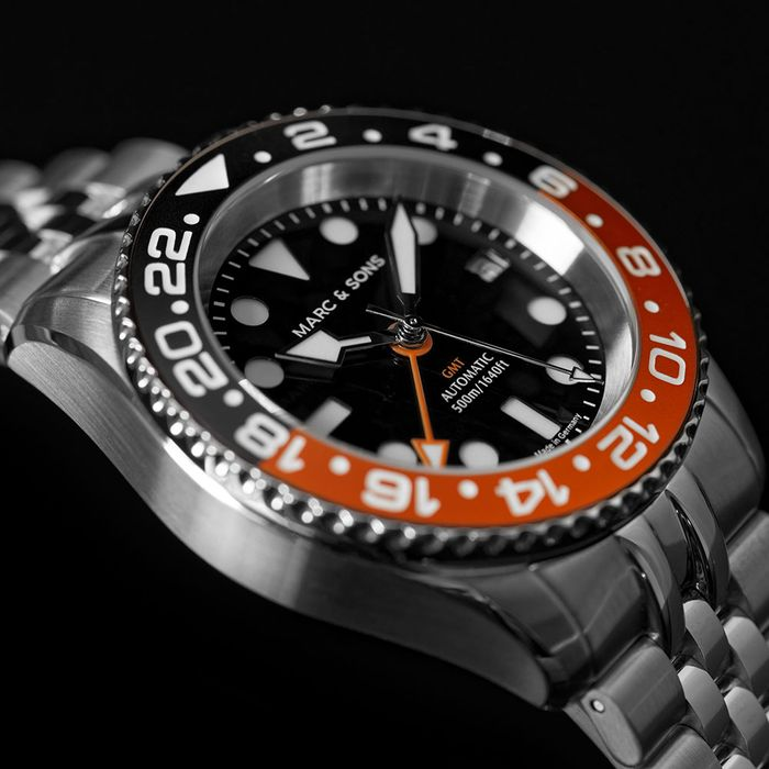 Marc & Sons GMT, Black & Orange
