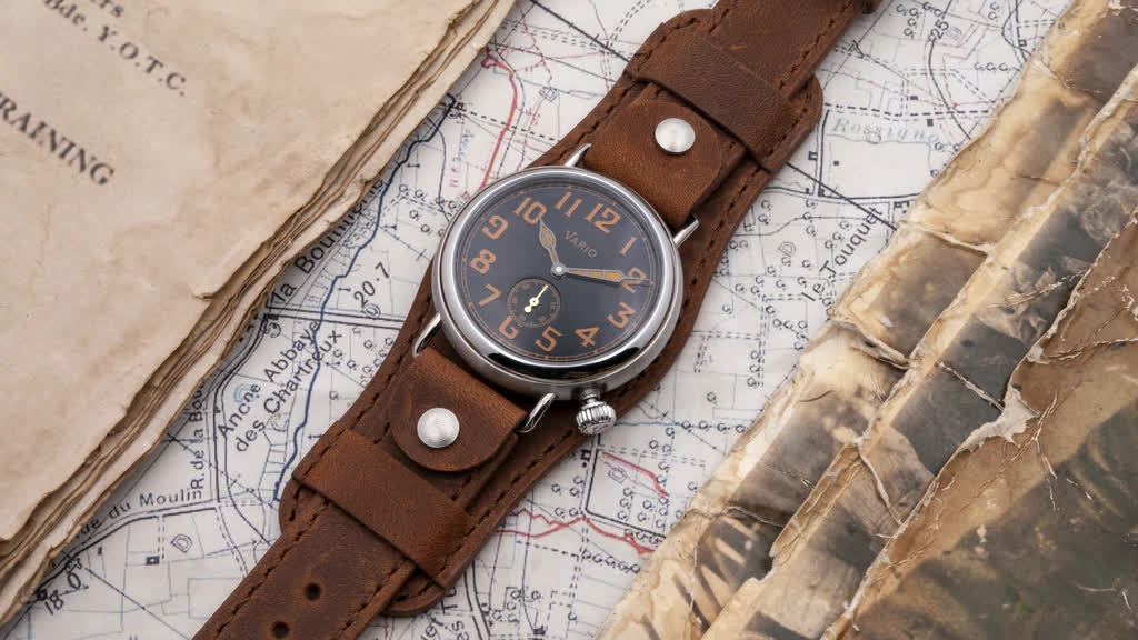 1918 Trench Black Dial with Orange Lume