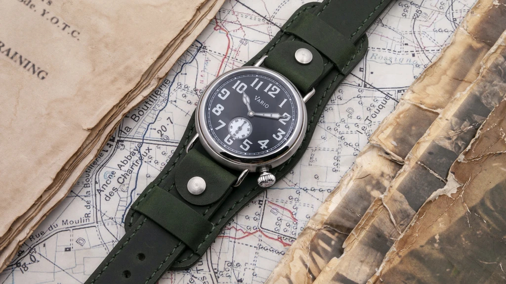 1918 Trench Black Dial with White Lume