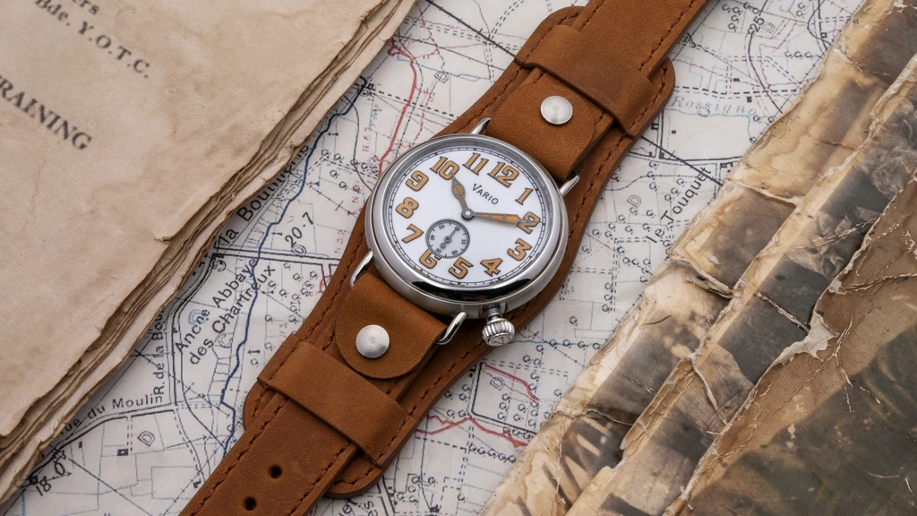1918 Trench White Dial with Orange Lume