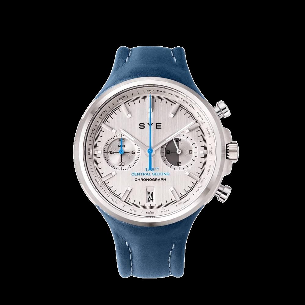 MOT1ON Chronograph | Silver Edition | SYE Blue